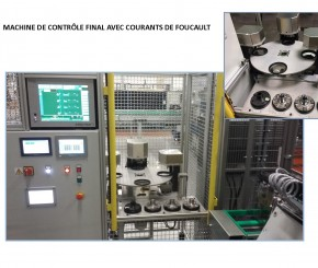 Machine de controle final avec courants de Foucault