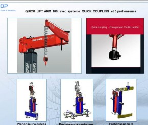 MANUTENTION AVEC QUICK LIFT ET QUICK COUPLING